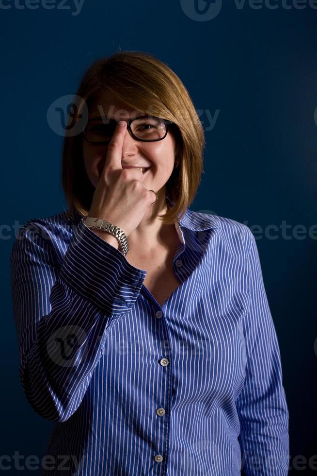 nördiga affärskvinna foto