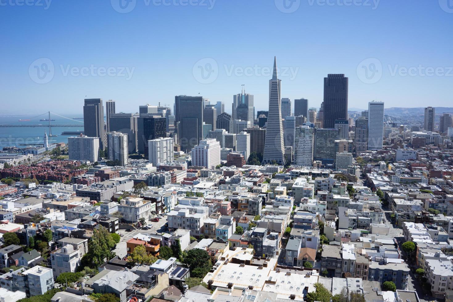 liggande flygfoto över San Fransisko stadsbild foto