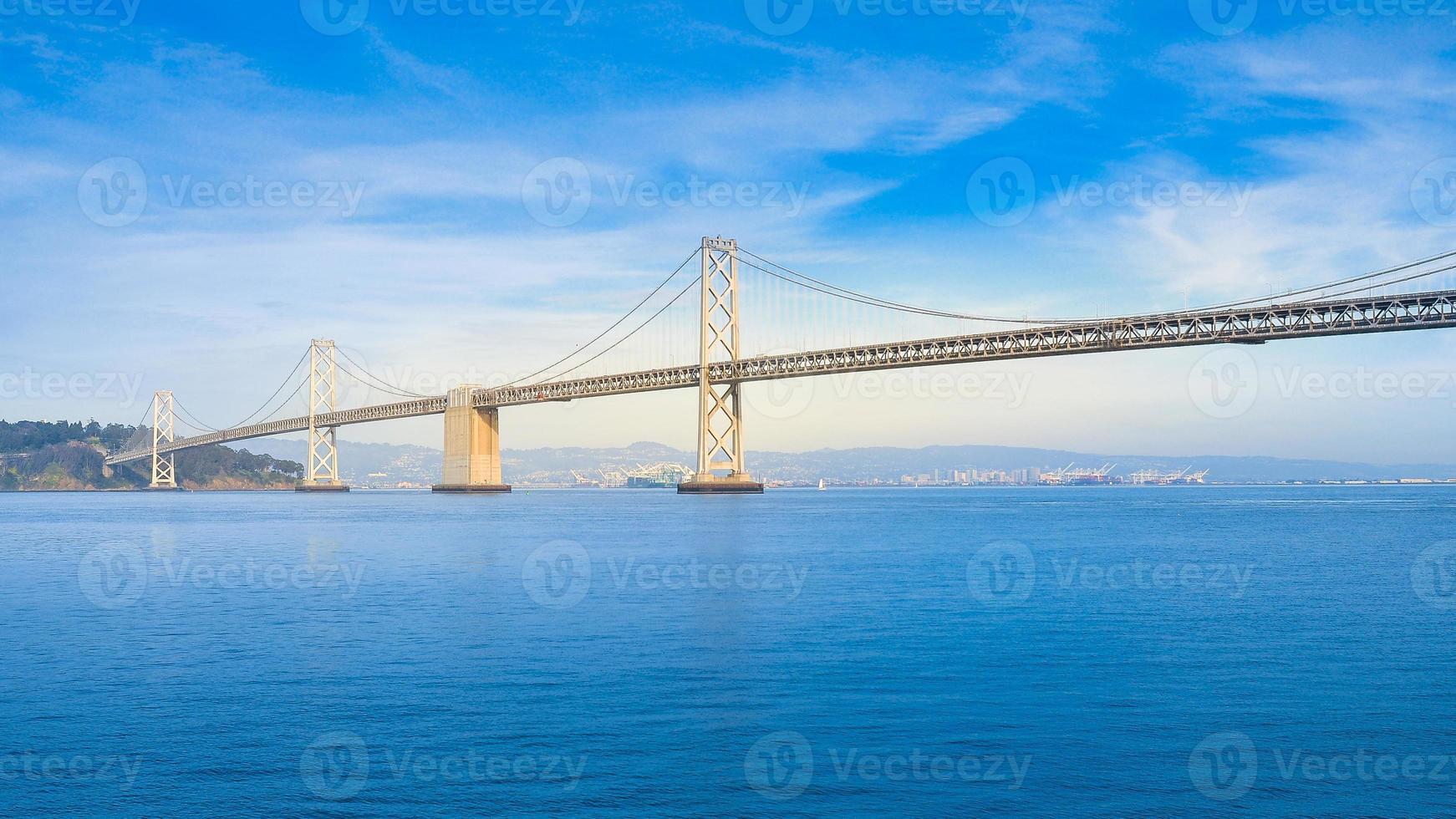 västra delen av san francisco-oakland bay bridge foto