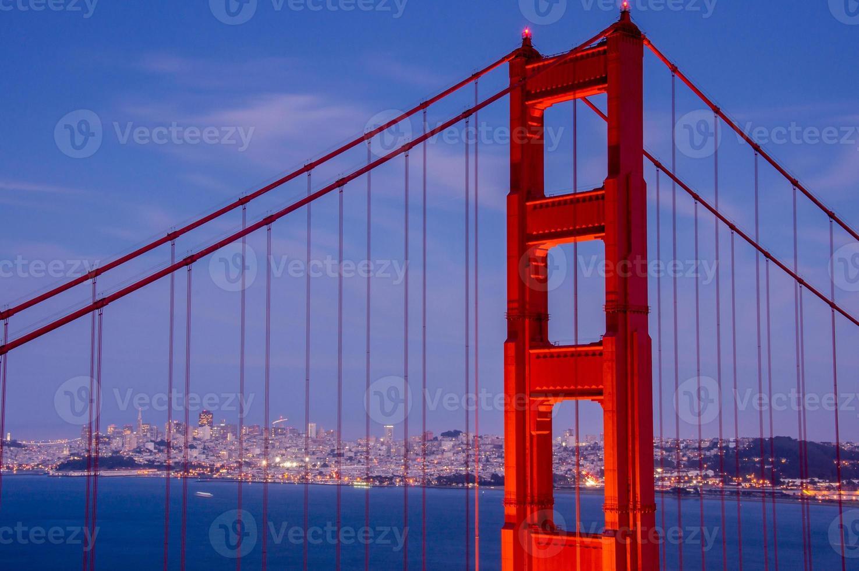 golden-gate bridge närbild, san francisco foto