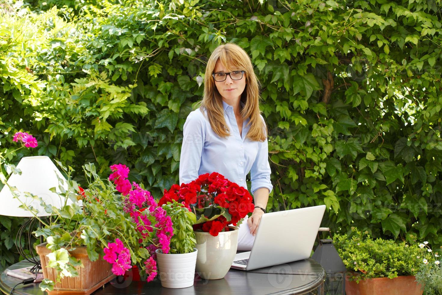 modern affärskvinna foto