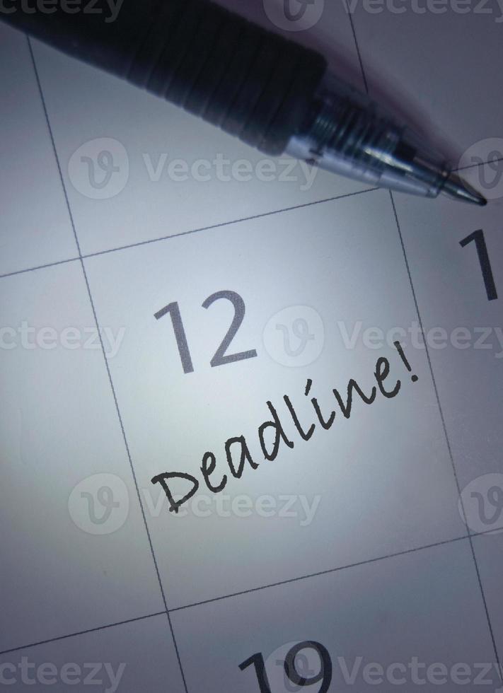 tidsfristen kalender post foto