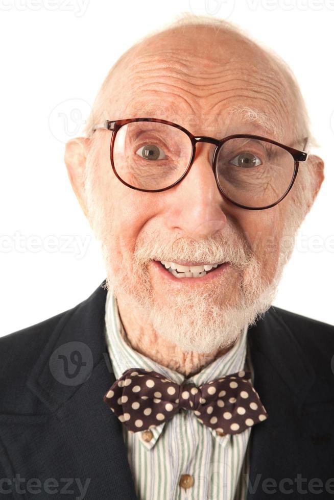 uttrycksfull äldre man foto