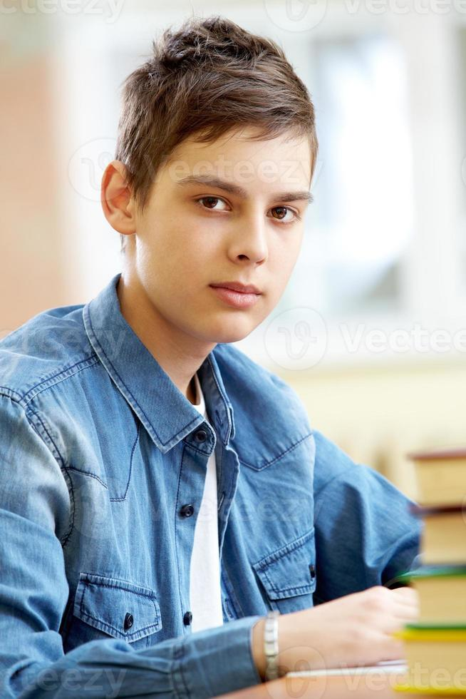tonårs elev foto