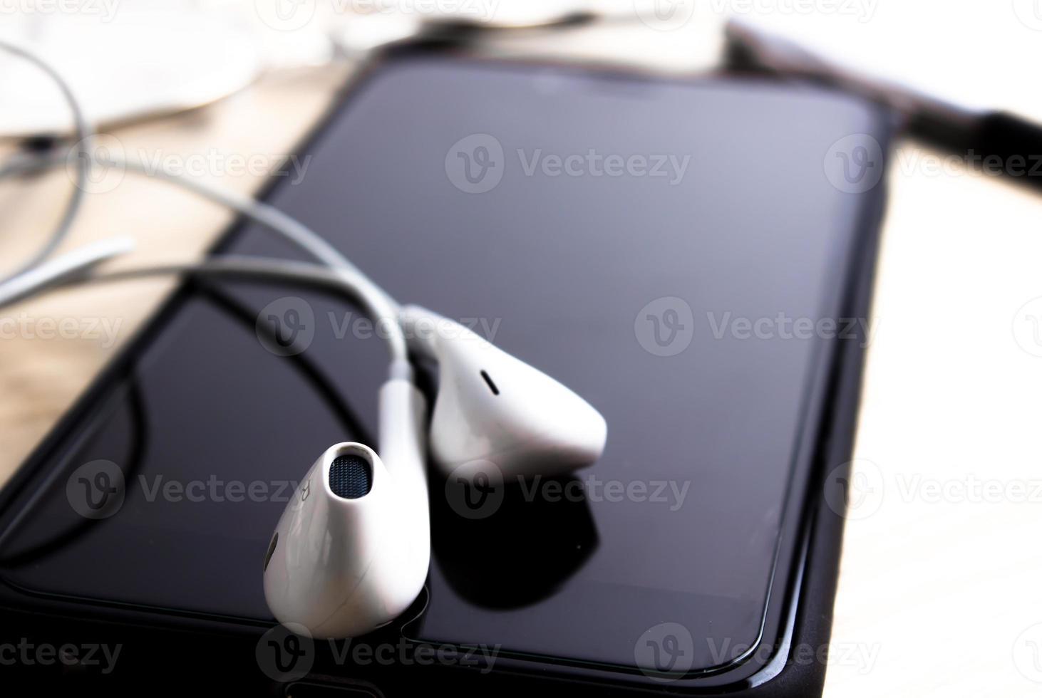 telefon och öronsnäcka foto