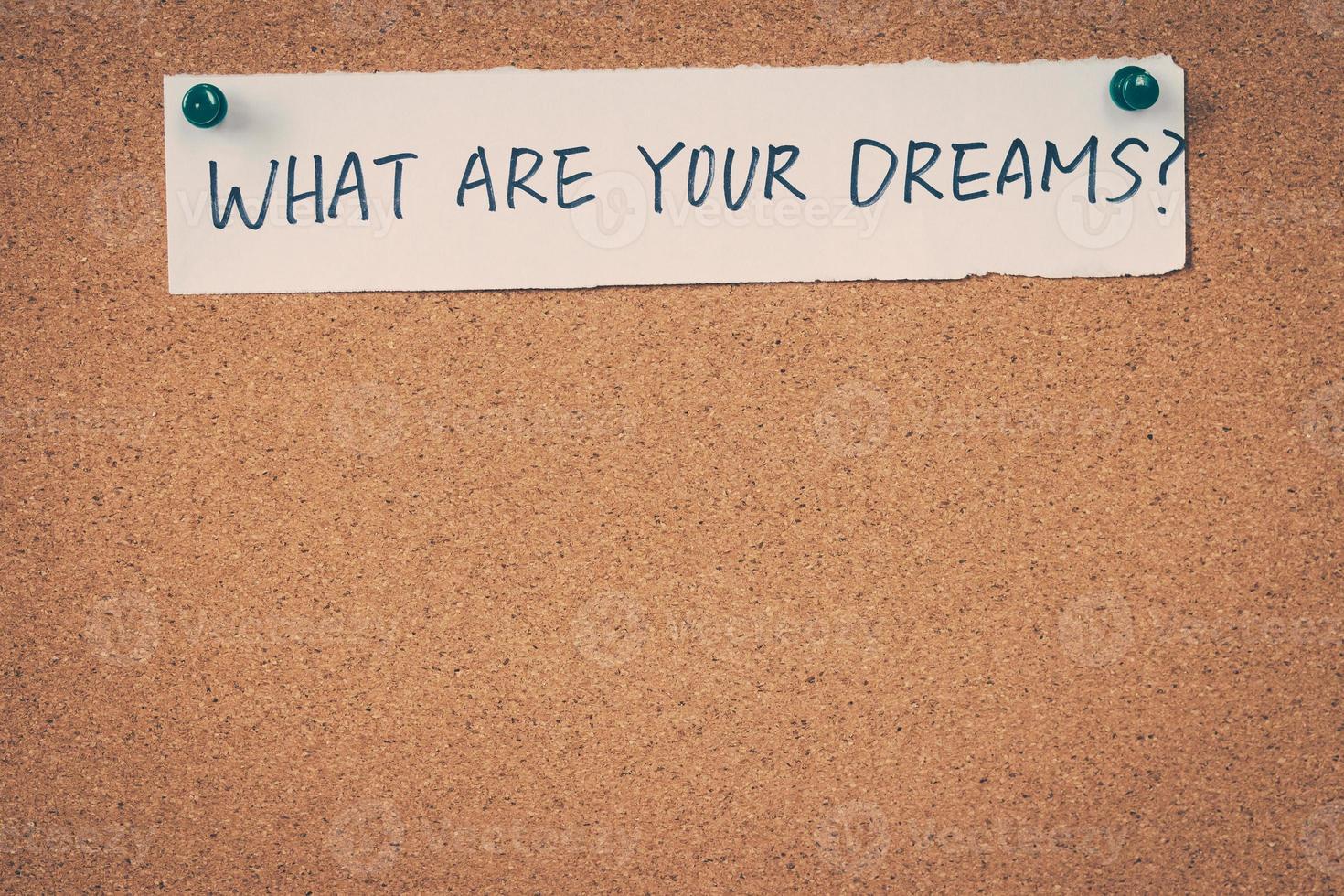 Vad är dina drömmar foto