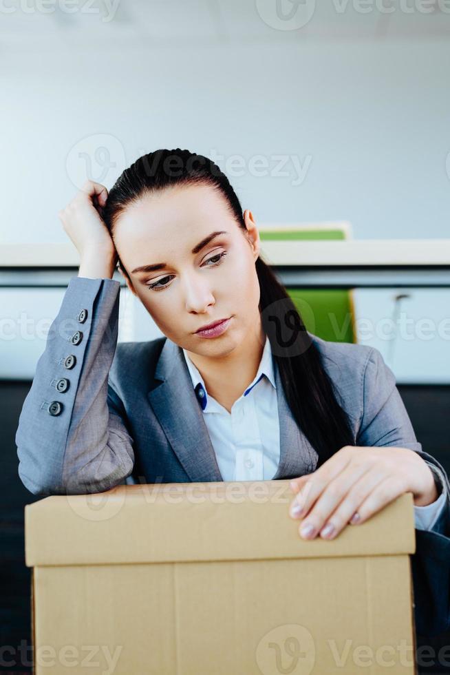att förlora jobbet är en överväldigande oro foto