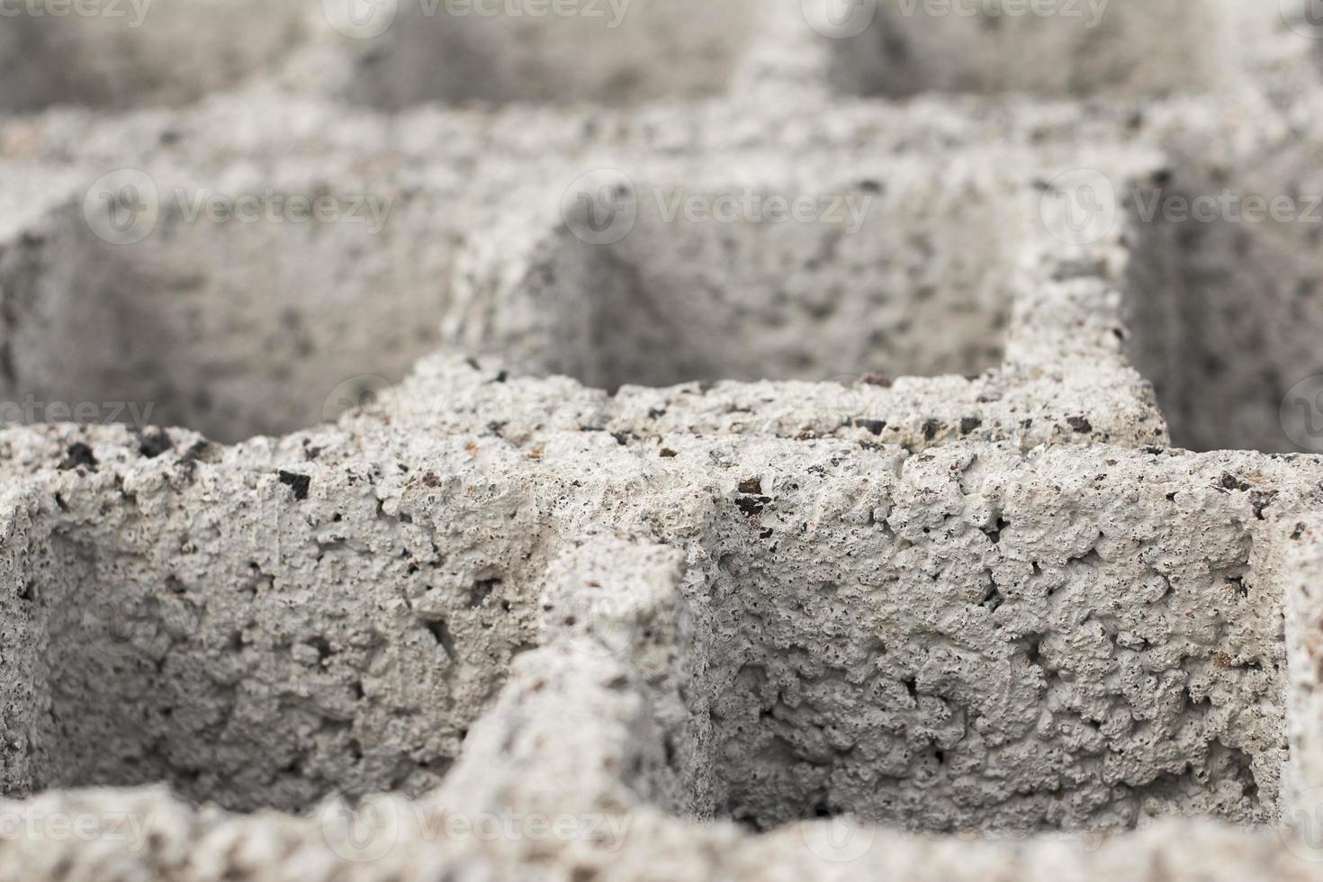 cement block närbild foto