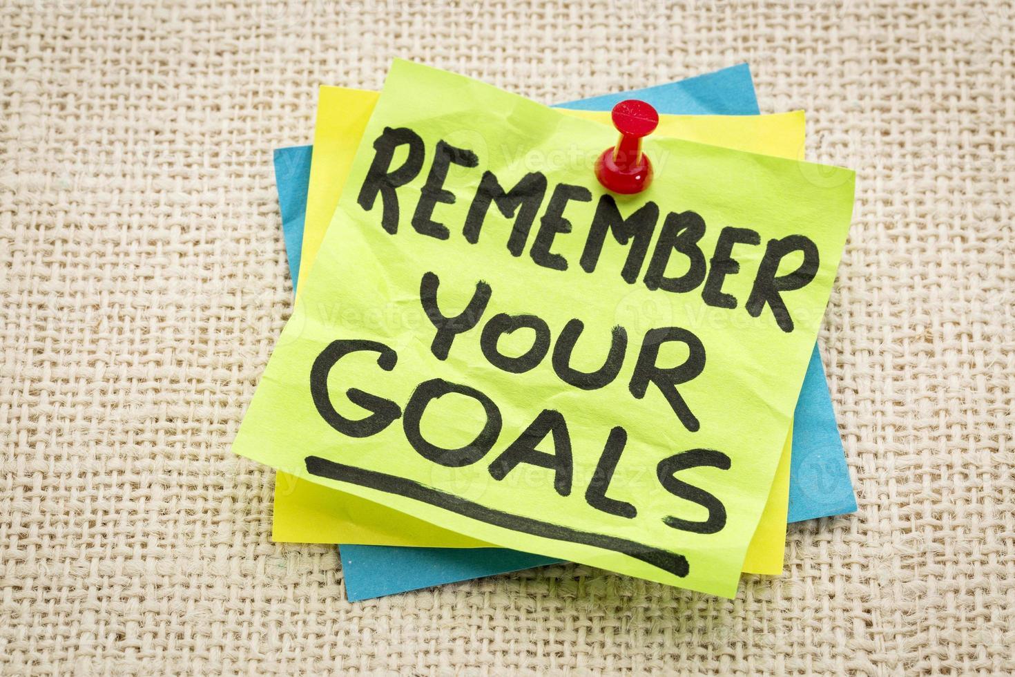kom ihåg dina mål foto