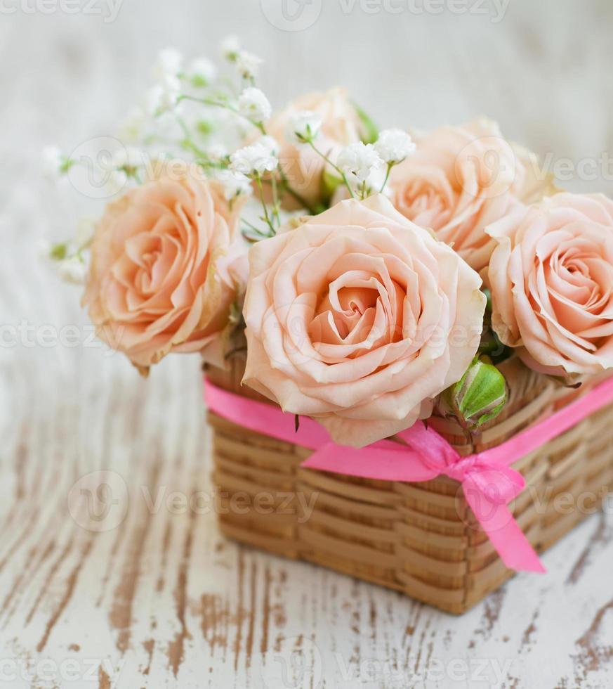 ljusrosa rosor foto