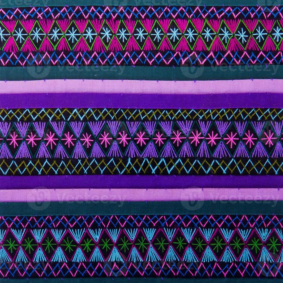 färgrik afrikansk peruansk stilmatta på nära håll foto