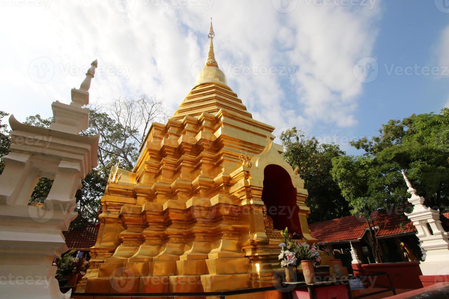 tempel i Chiang Mai thailändska landet foto