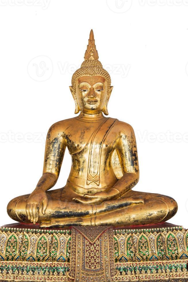 antik brons sittande buddha foto