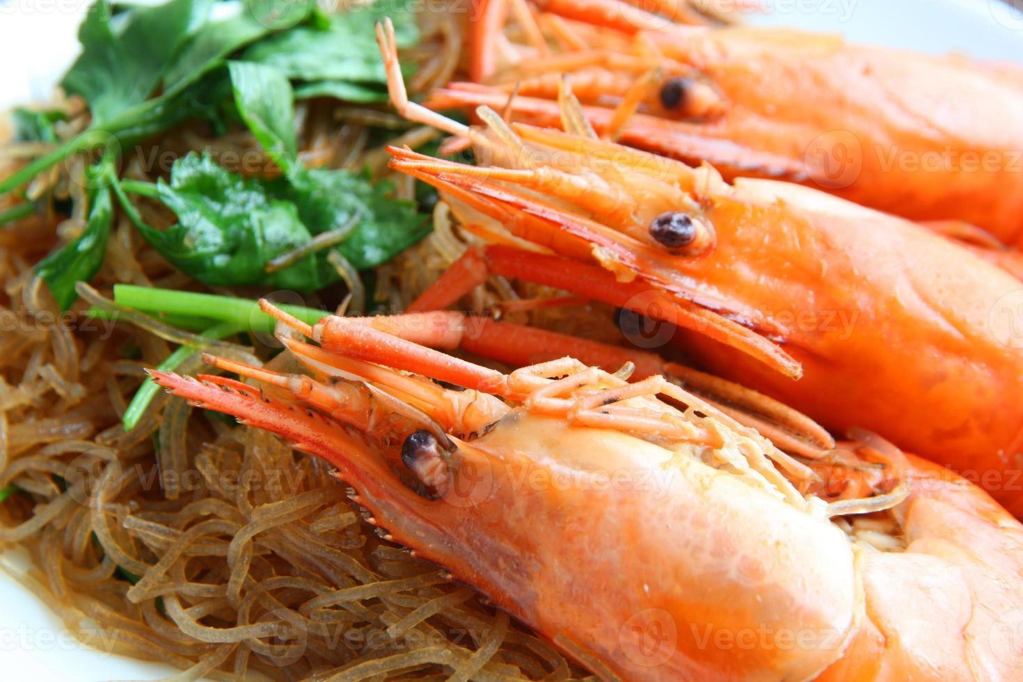 räka vermicelli. Thai mat foto