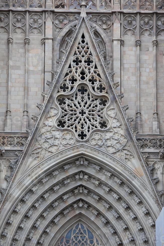gotisk domkyrka i Barcelona foto