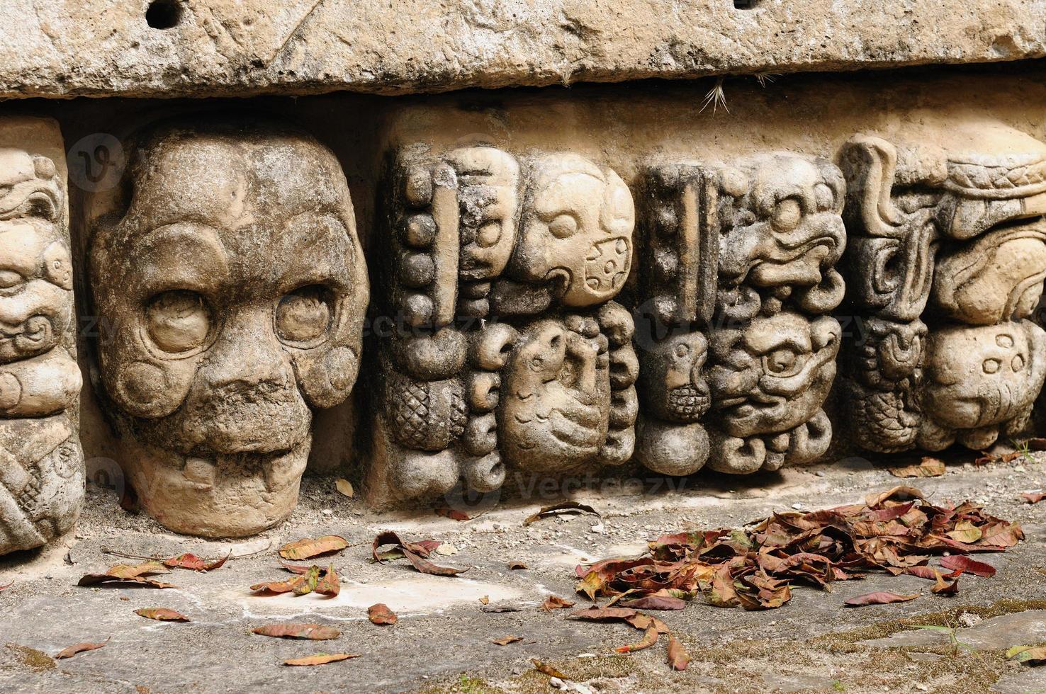 Copan Mayan ruiner i Honduras foto