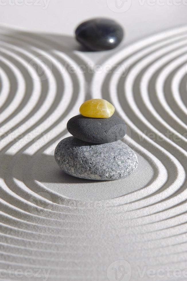 japansk zen trädgård foto