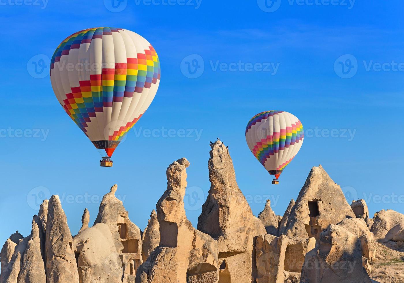 ballonger över cappadocia. foto