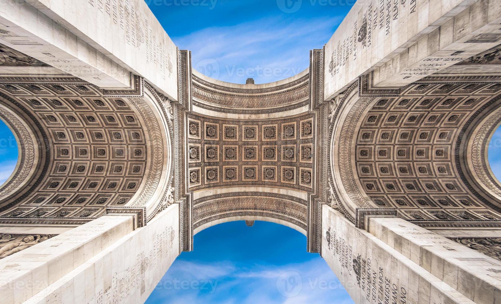 arc de triomphe, Paris, Frankrike foto