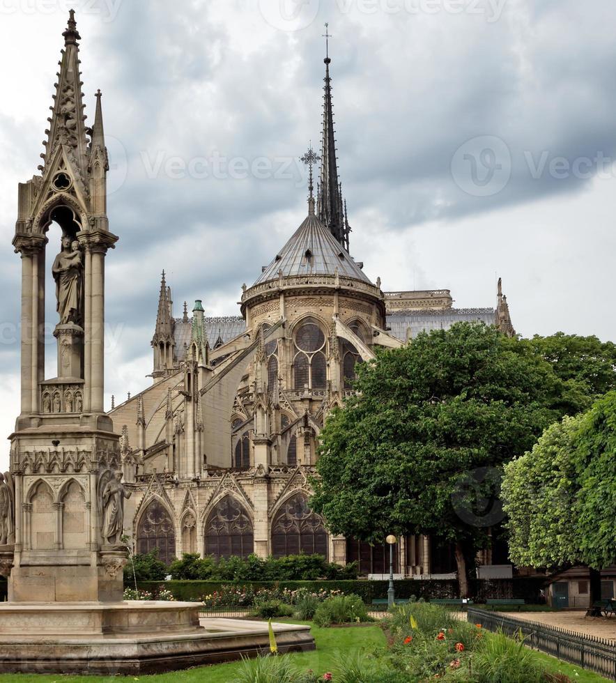 paris - Notre Dame-katedralen foto