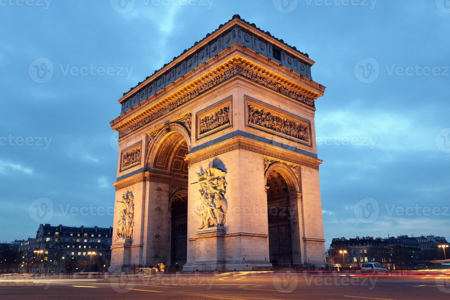 arc de triomphe, paris foto