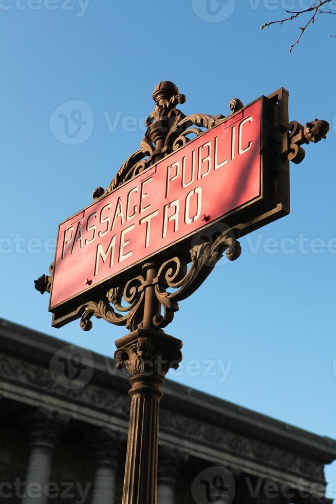 tunnelbana i paris foto