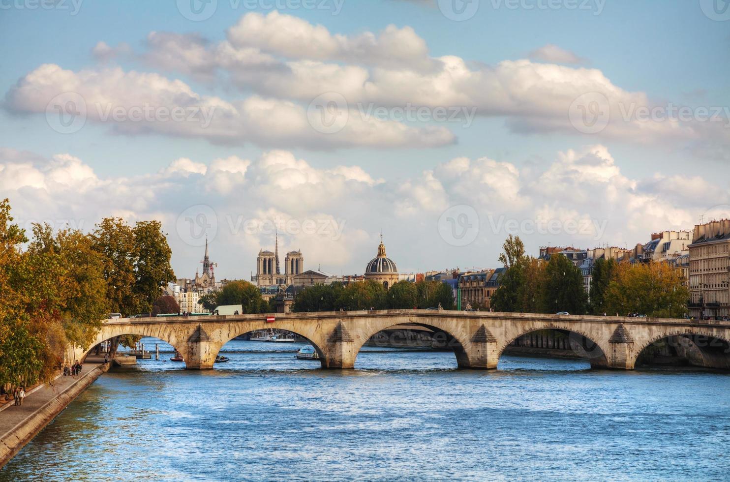 stadsbild av Paris, Frankrike foto