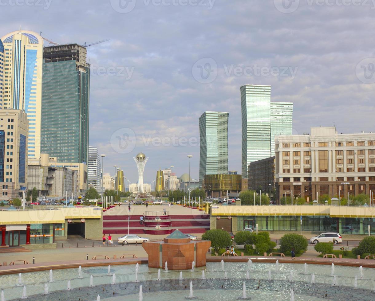 administrativa och kulturella centrum i Astana foto