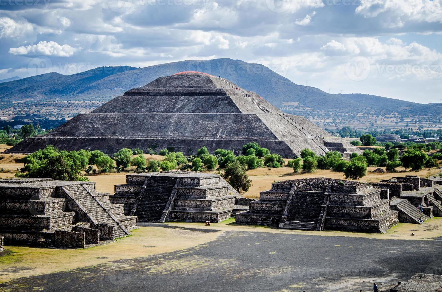 pyramiden av solen foto