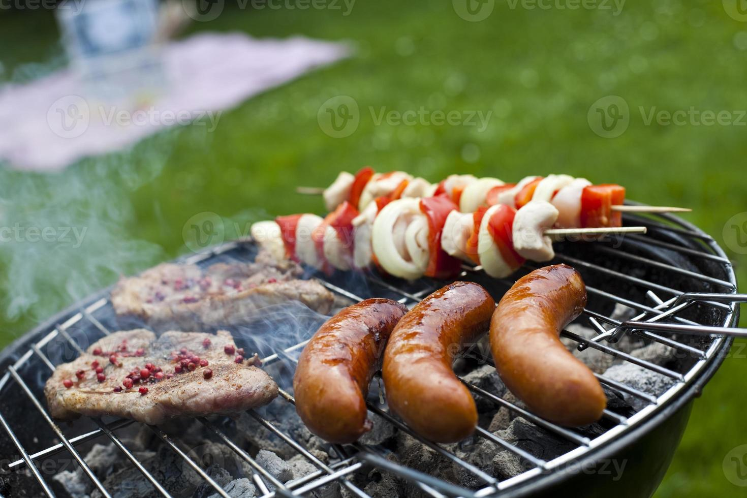 picknick, grilltid, grill foto