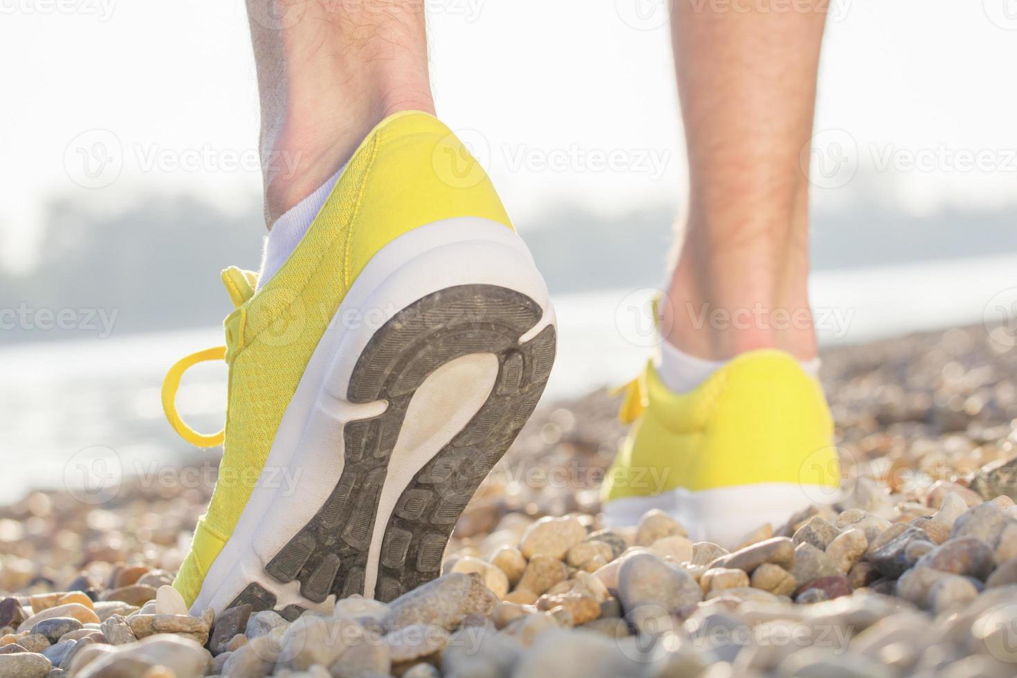 förbereder sig för jogging foto