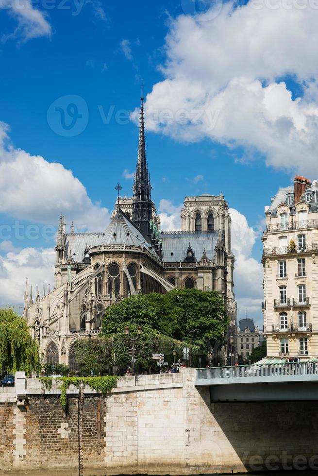 notre dame de paris cathedral.paris. Frankrike foto