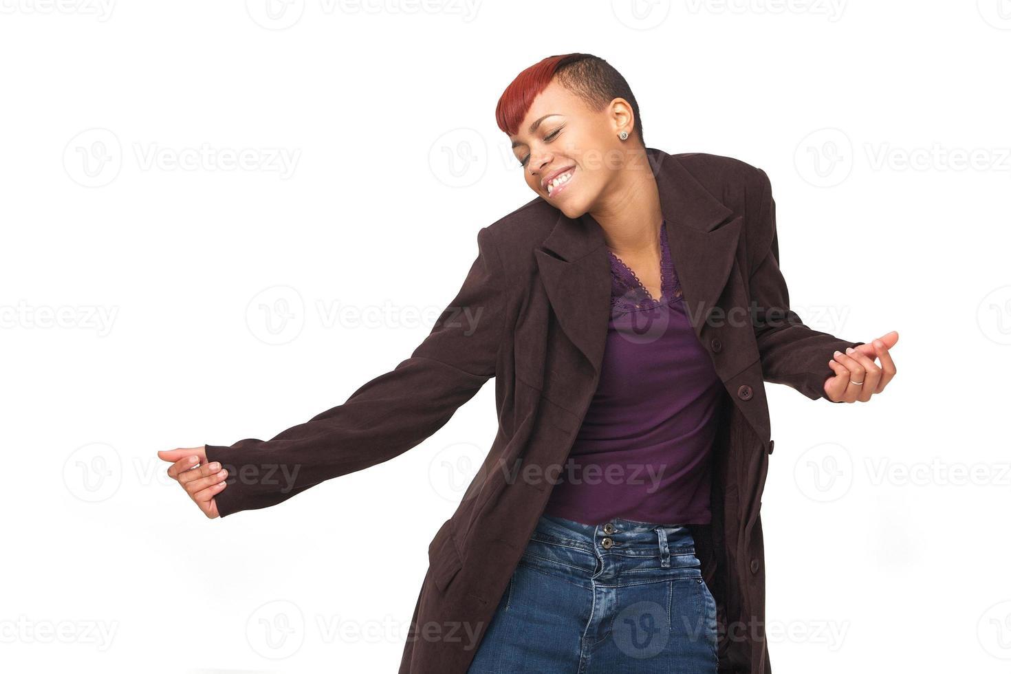 afrikansk amerikan modern dansare foto