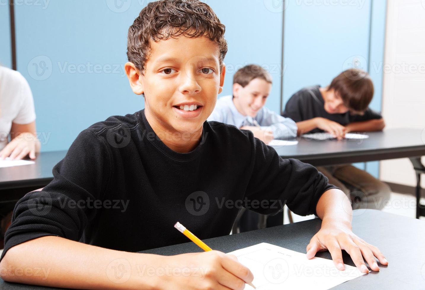 student ivrigt att lära sig foto