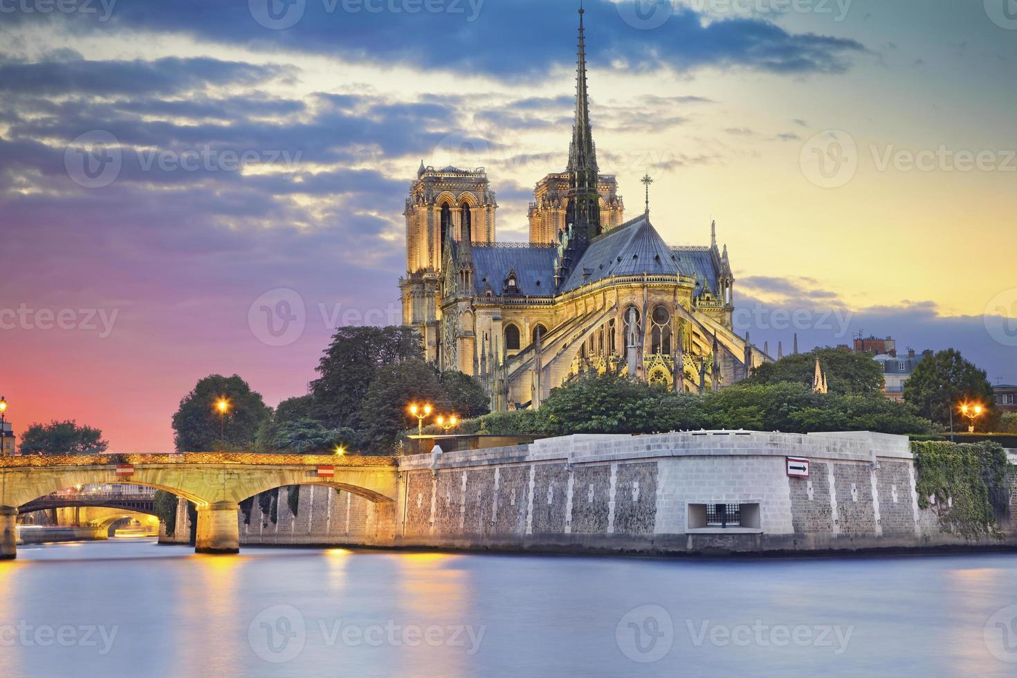 Notre Dame katedral, Paris. foto