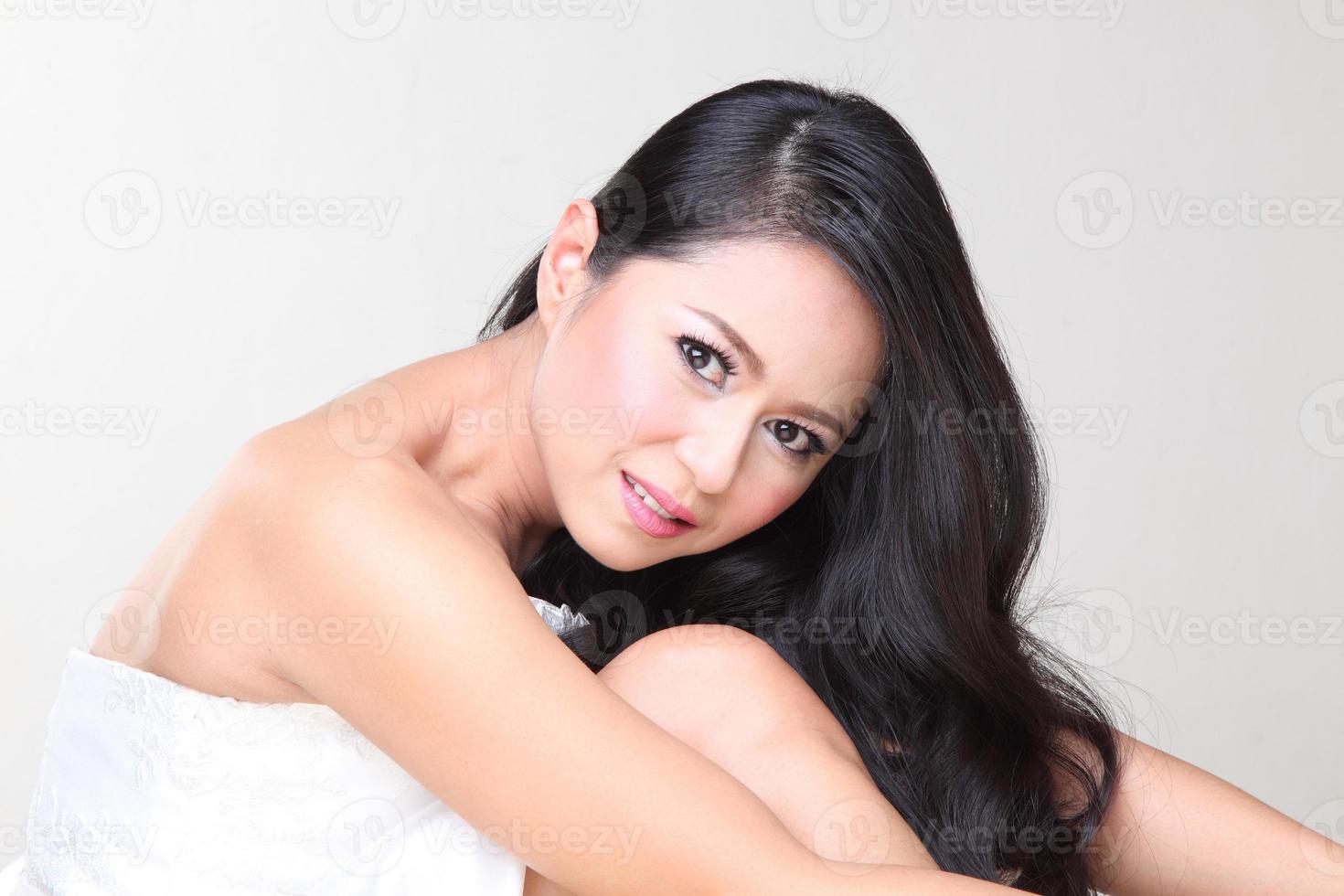vacker asiatisk kvinna foto