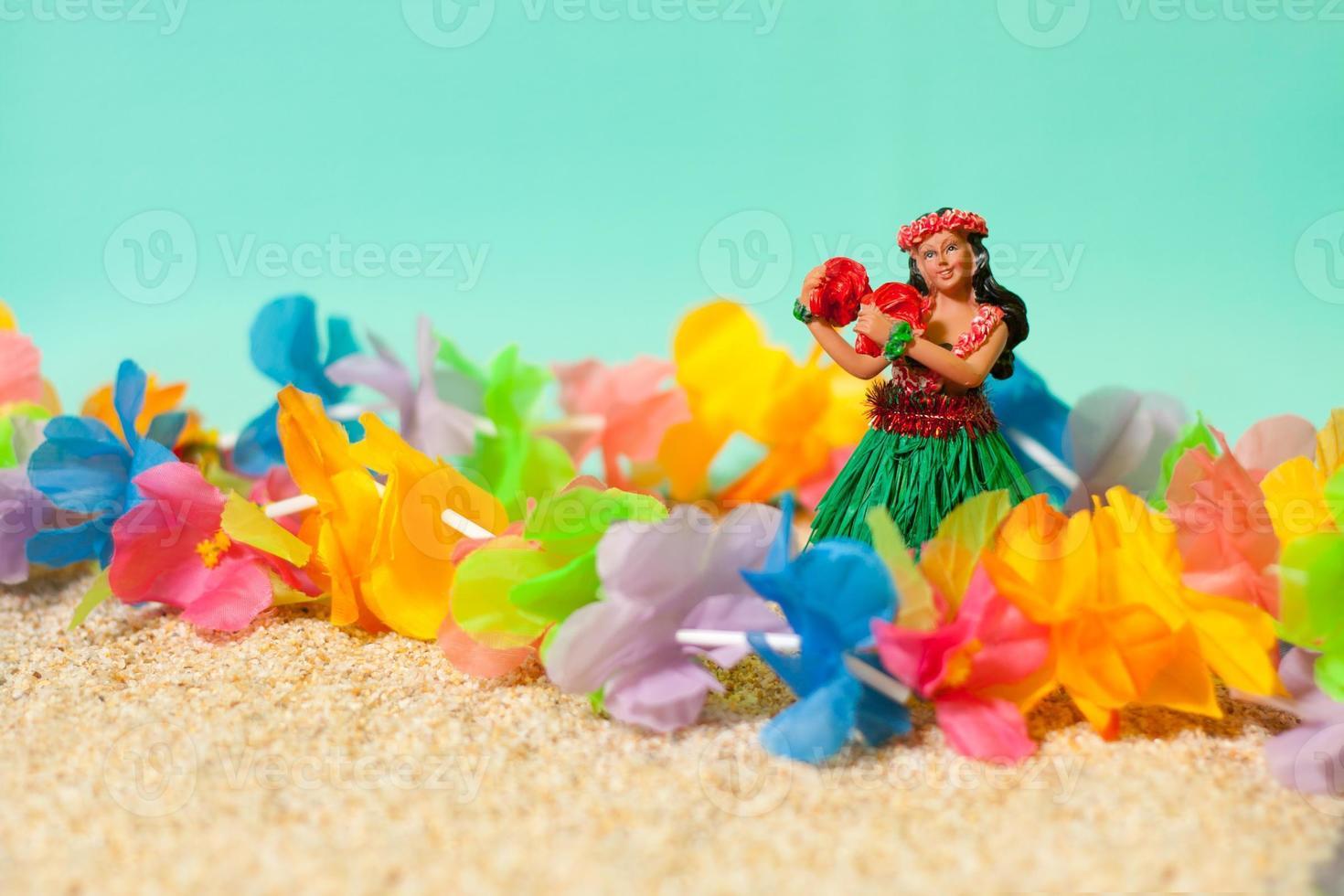 hula docka och lei foto