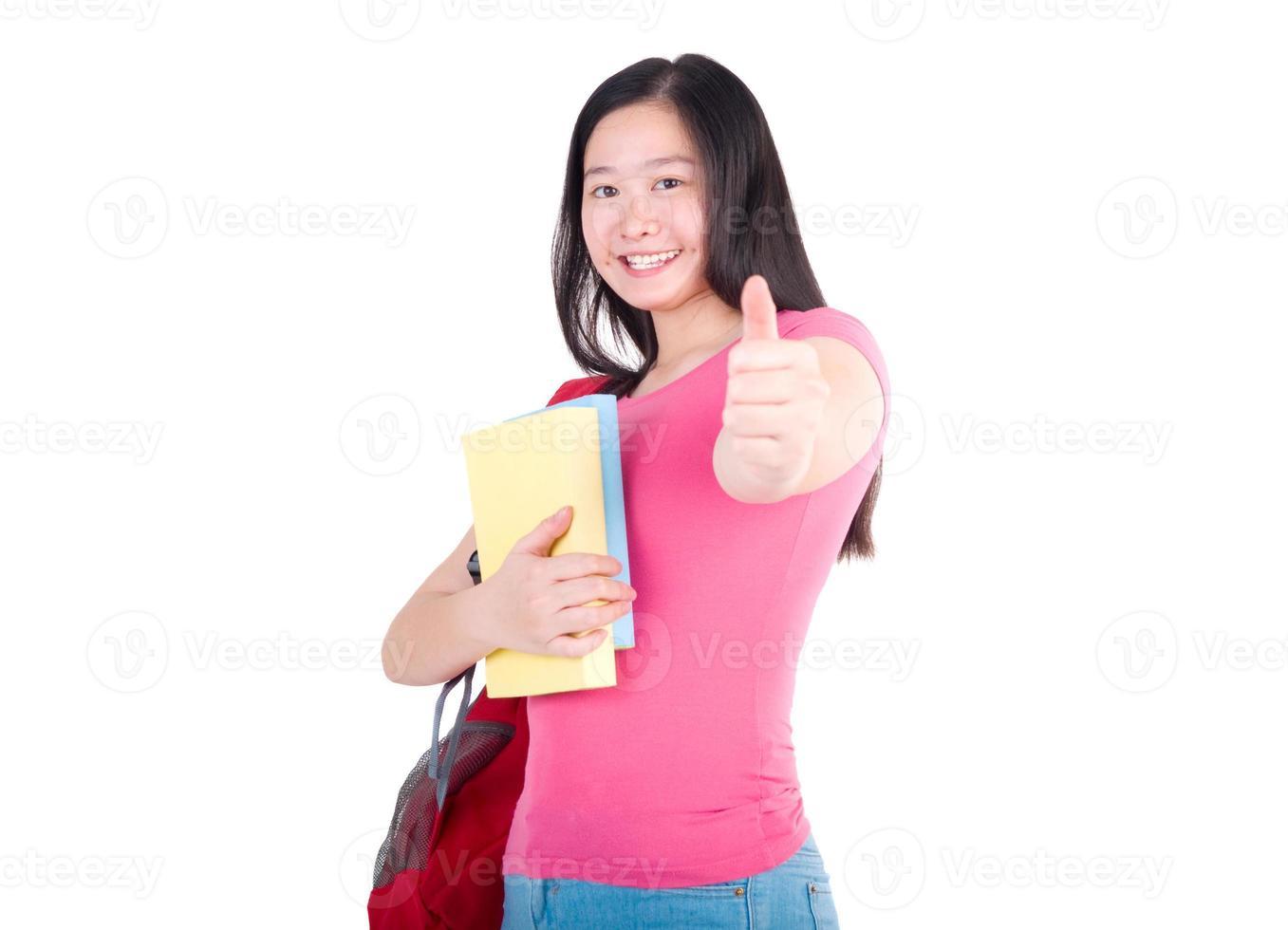 asiatisk studentflicka foto