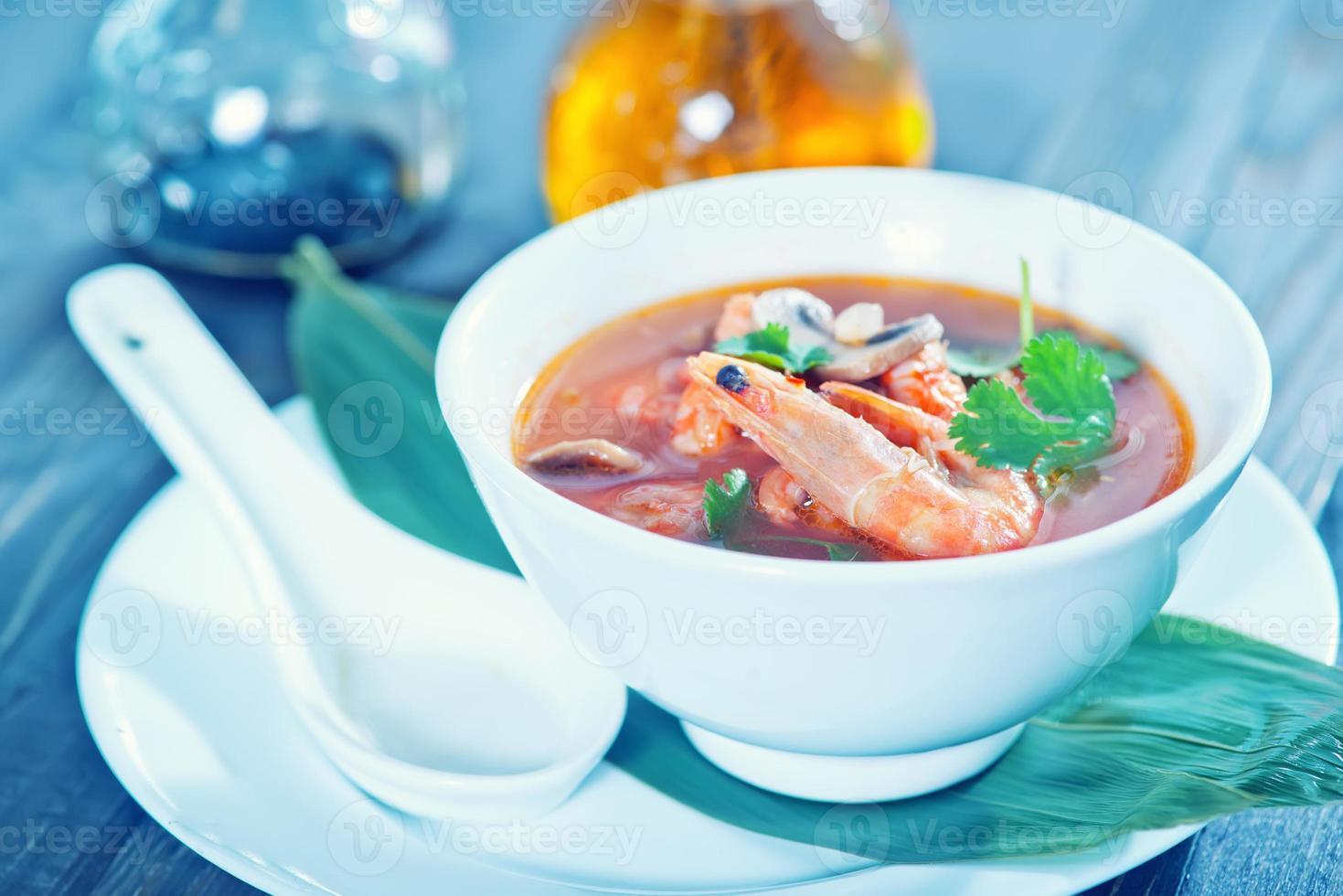 färsk asiatisk soppa foto