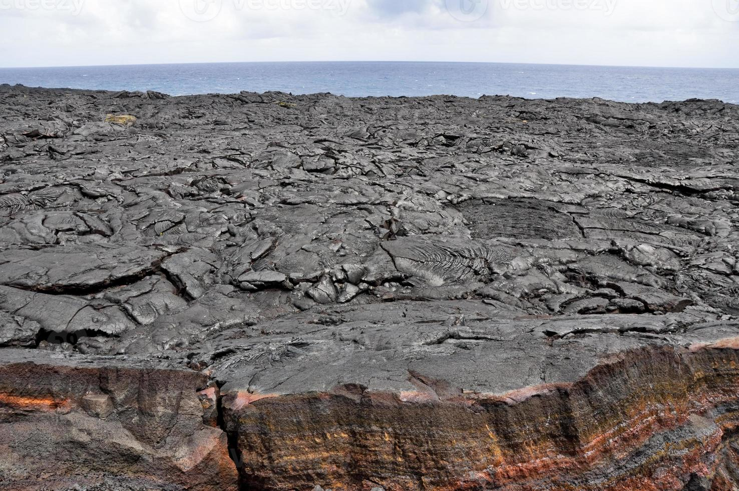 lavafält, hawaii vulkanernas nationalpark (USA) foto