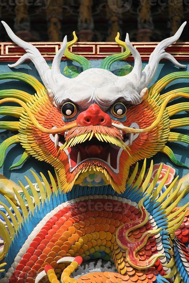 asiatiska tempel draken foto