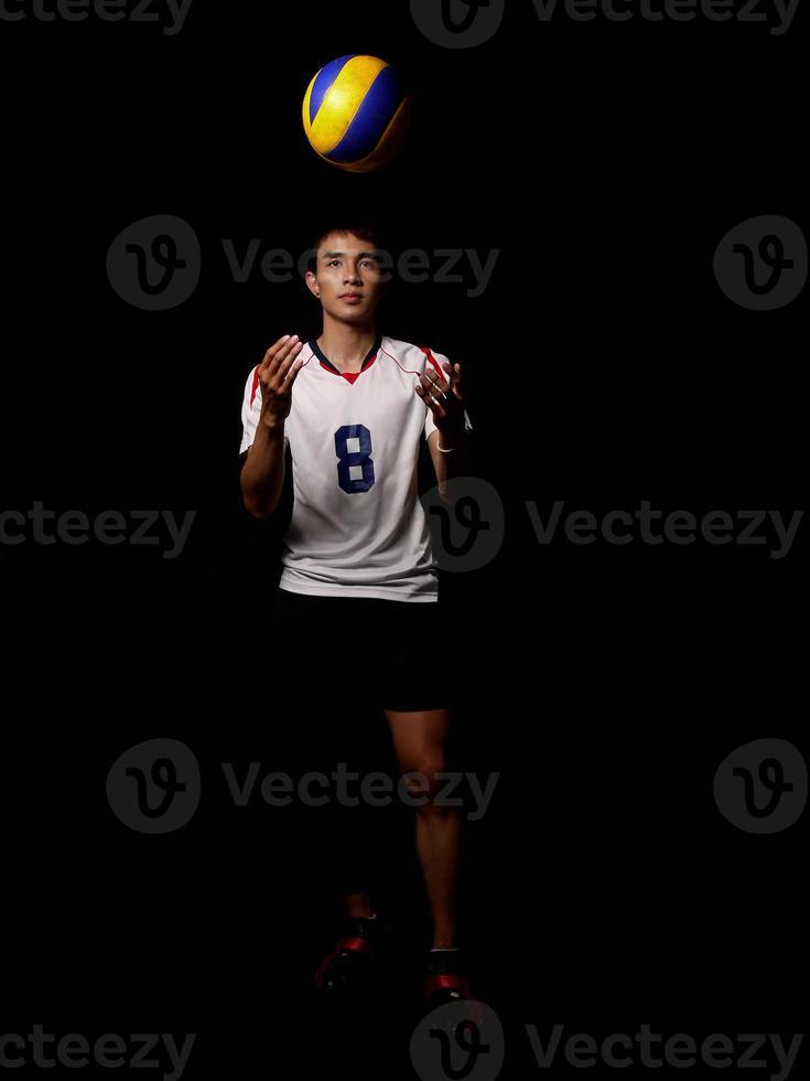 asiatisk volleybollspelare foto