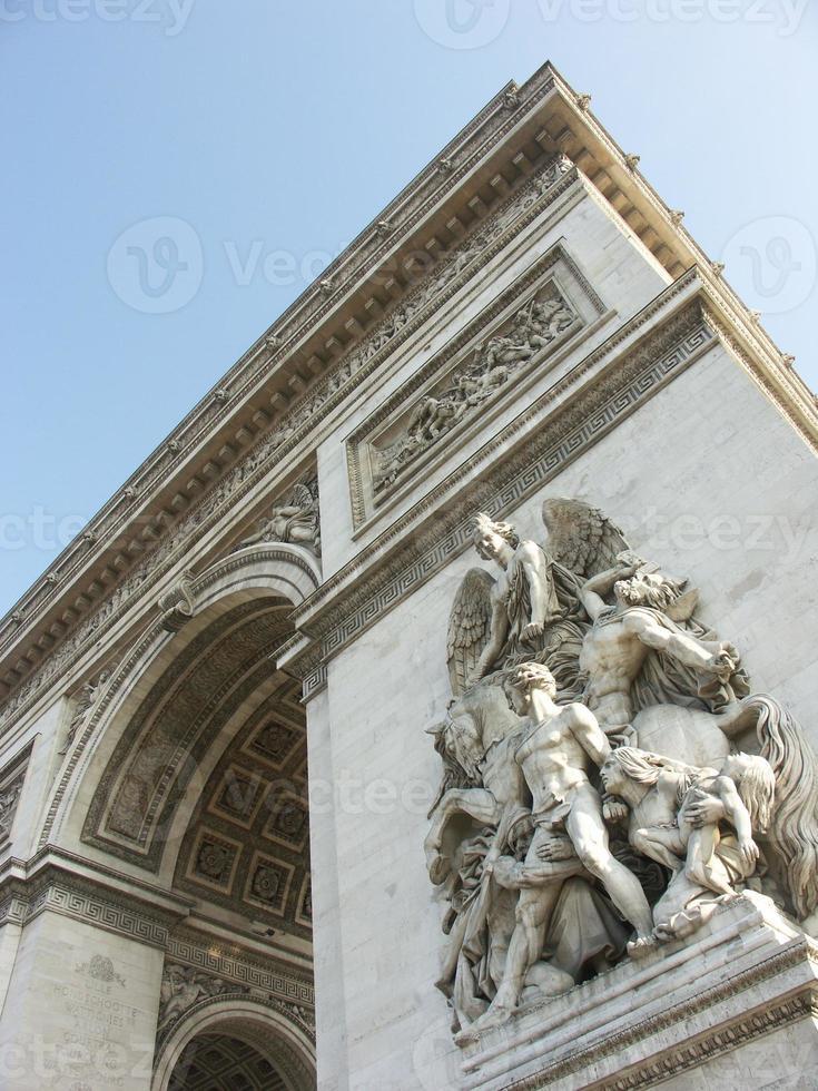 arc de triomphe in paris foto