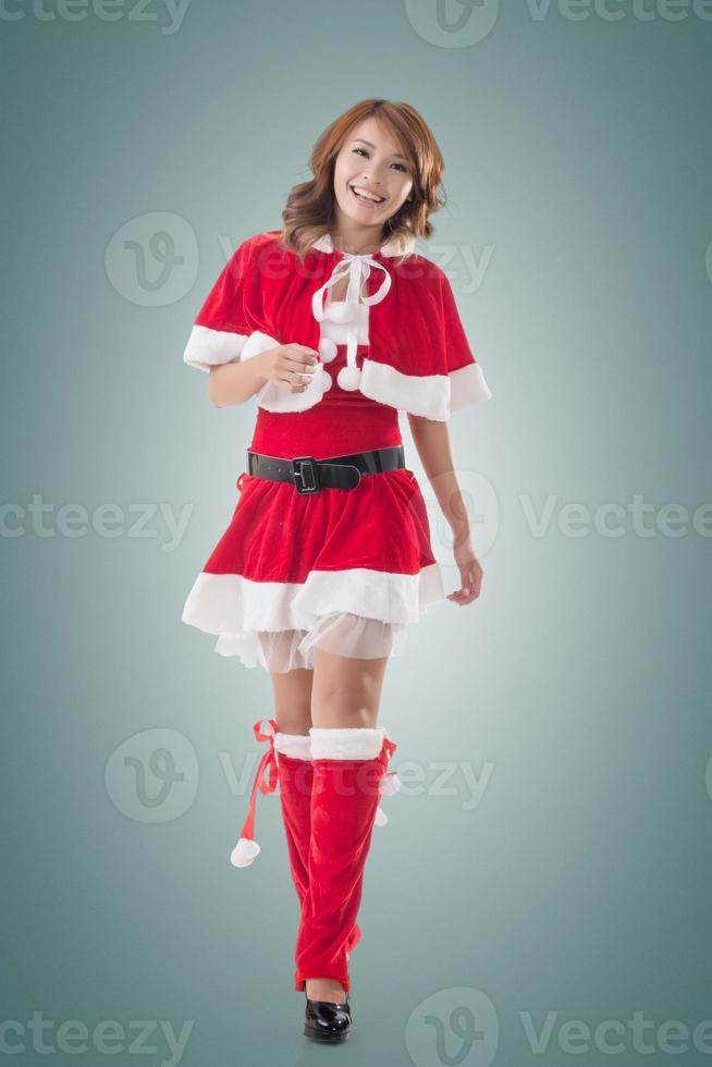 asiatisk jul flicka gå foto