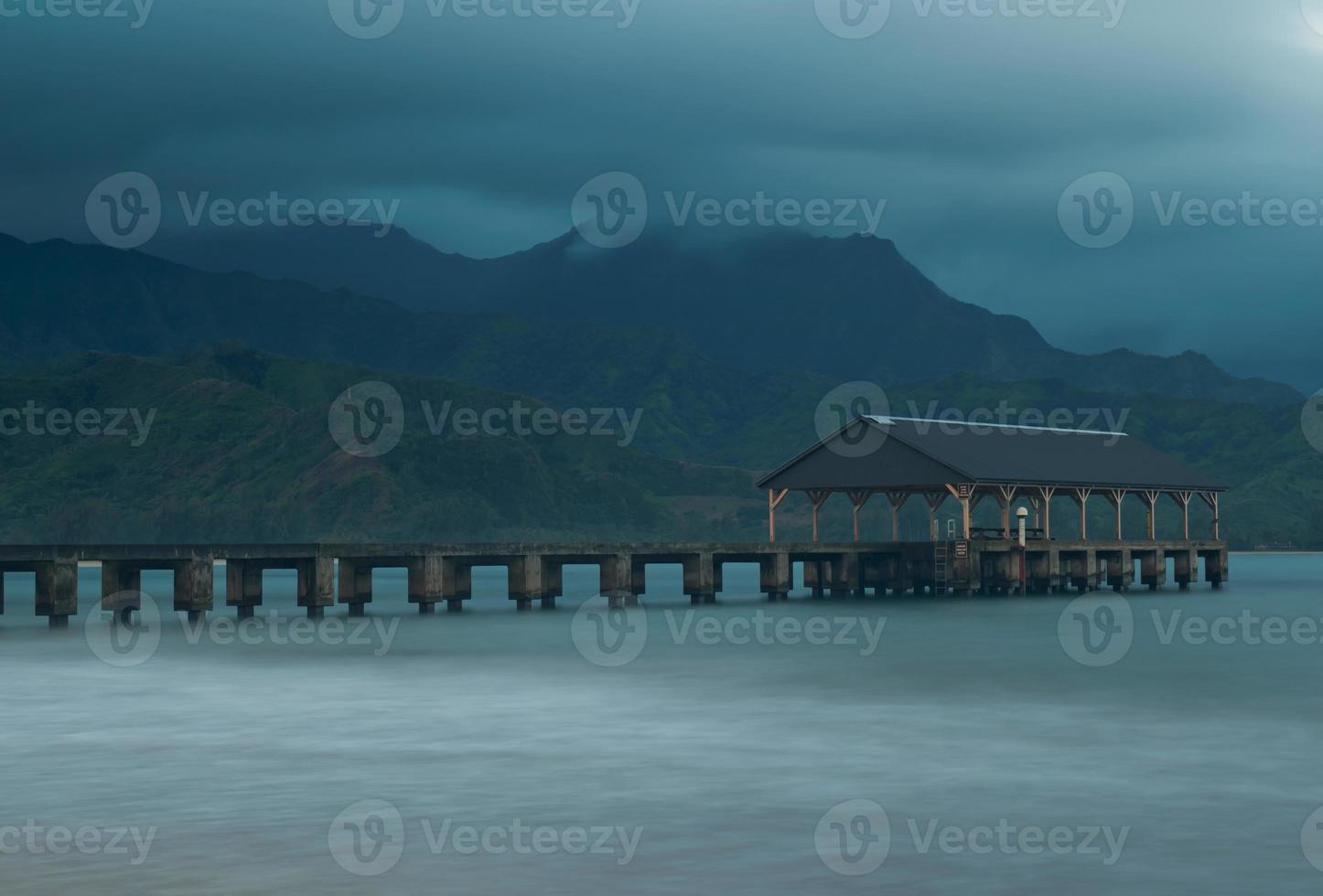 hanalei strandbrygga foto
