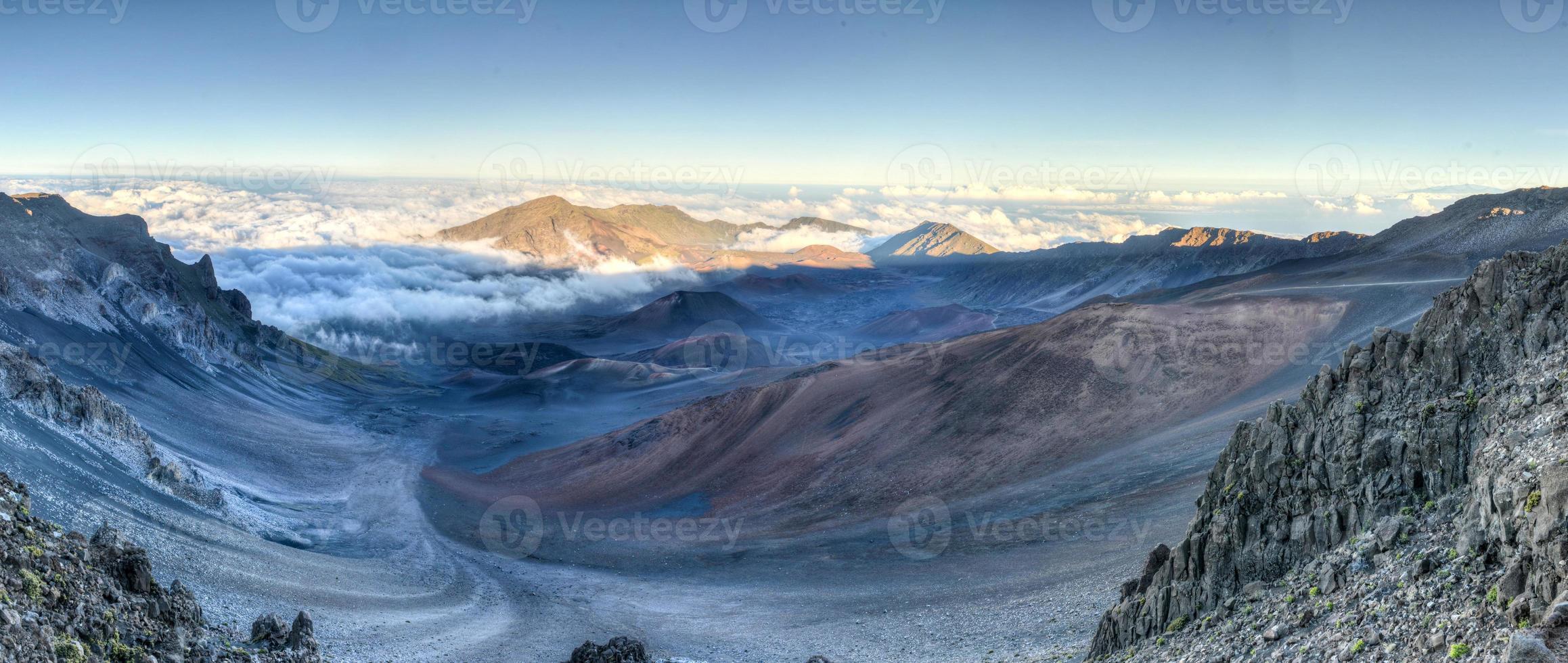 caldera av haleakala vulkan (maui, hawaii) foto