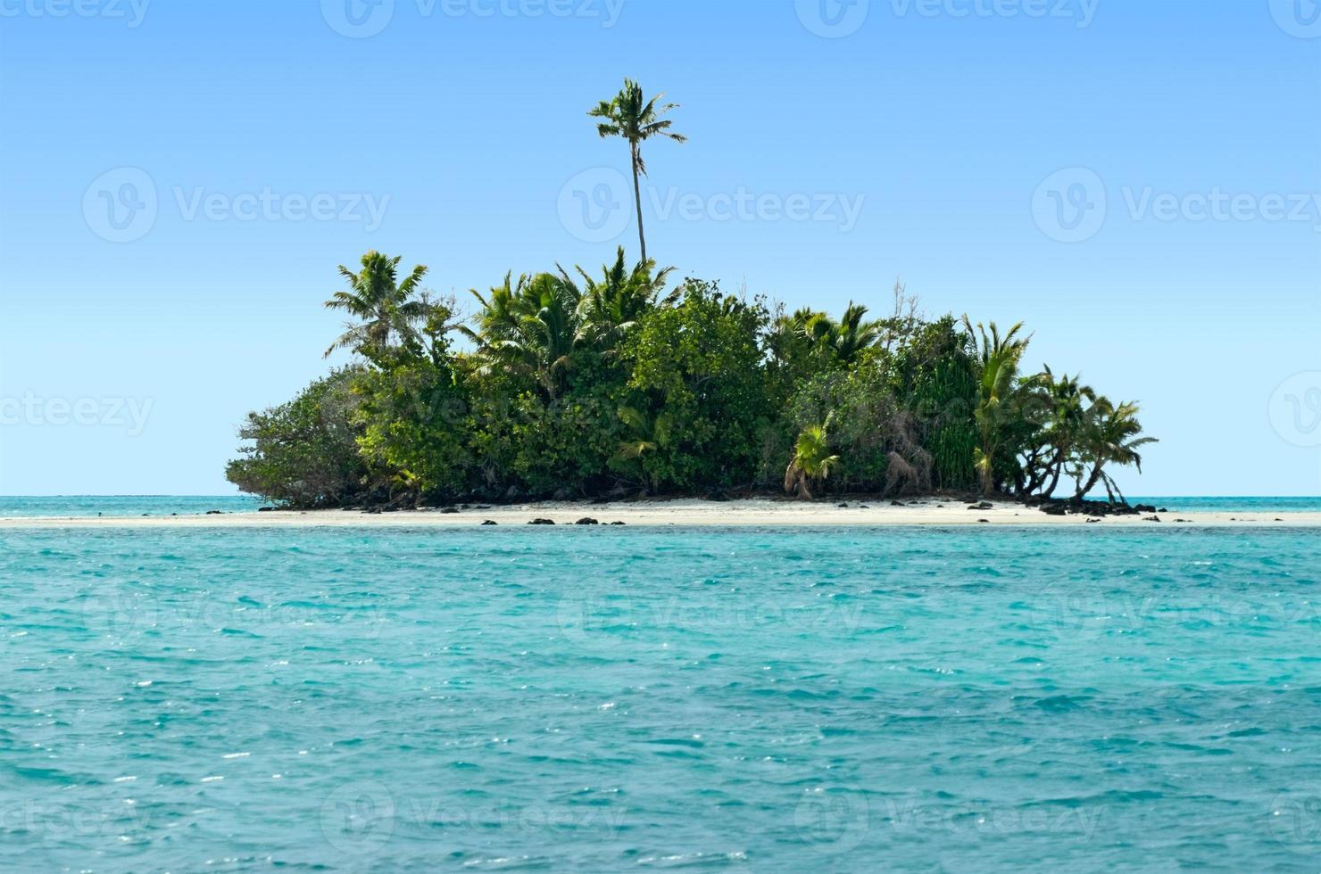 landskap av rapotaön i aitutaki lagun kocköar foto