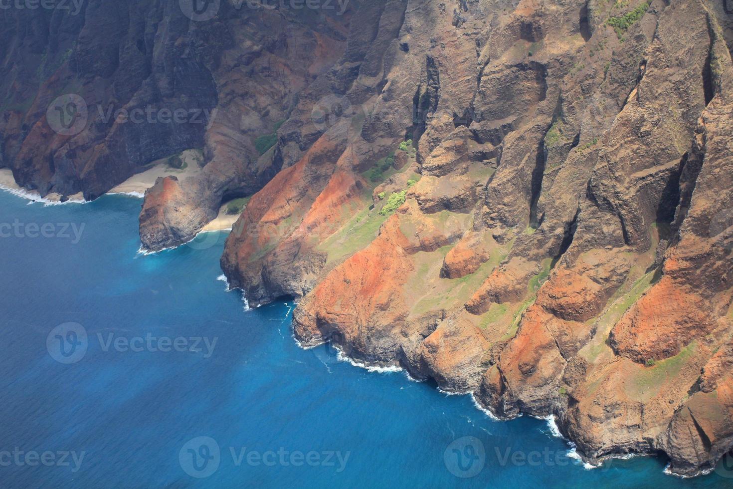 na pali kust hawaii foto