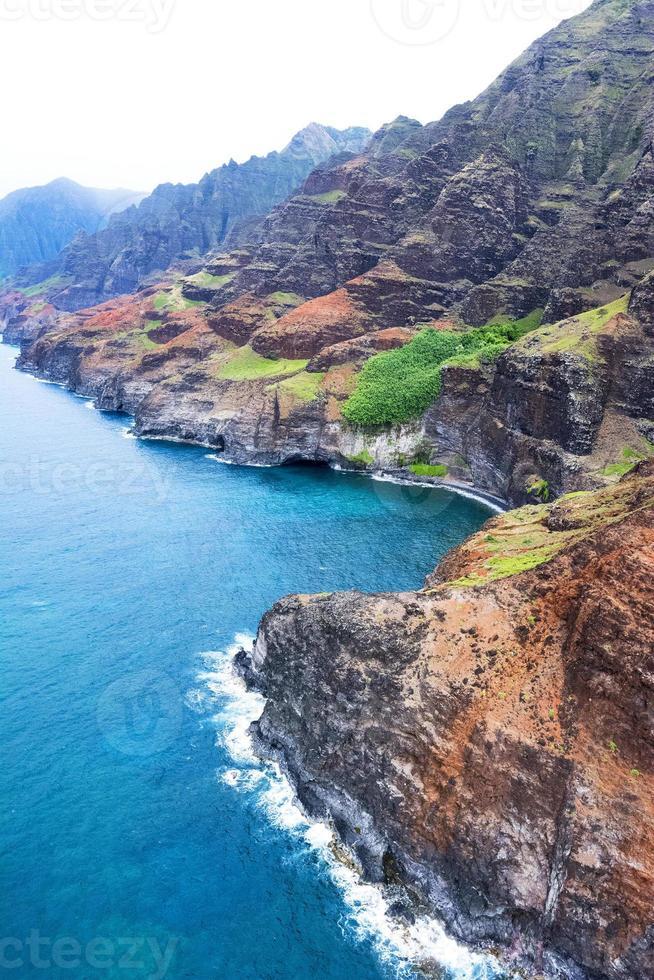 na pali kust kauai hawaii foto