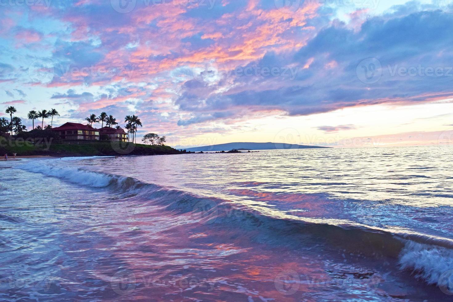 wailea state beach solnedgång foto